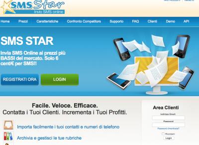Invia SMS con SmsStar.it