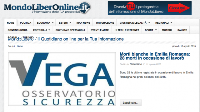 MondoLibero quotidiano online