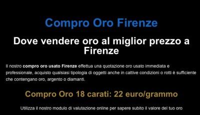 Compro oro Firenze